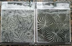 bundle of 2 bold prints rubber stamps