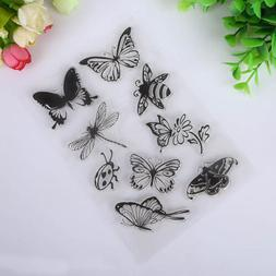 Butterfly and Bee Transparent Rubber Stamp Seal Paper Craft
