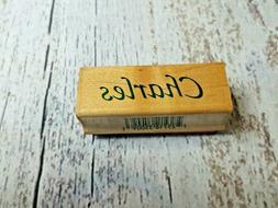 Inkadinkado Calligraphy Name Personalized Rubber Stamp Wood