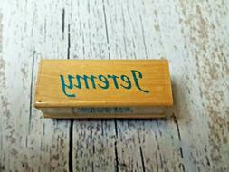 Inkadinkado Calligraphy Name Personalized Rubber Stamp Wood