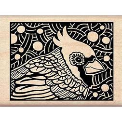 Inkadinkado Cardinal Woodcut Wood Stamp
