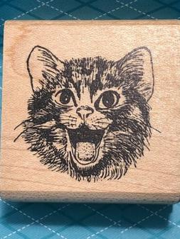 Cat Graphic Rubber Stamp 902-3B Crafts Coloring Stamping Art