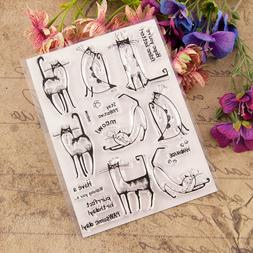 Cat Meow Transparent Silicone Clear Stamps Scrapbooking Embo