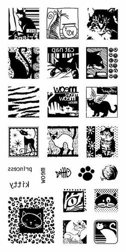 Cats Galore Inchies Clear Acrylic Stamp Set by Inkadinkado 9