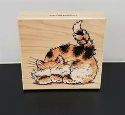 PENNY BLACK Caught Nappin'! 1733H Wood-Mount Rubber Stamp, C