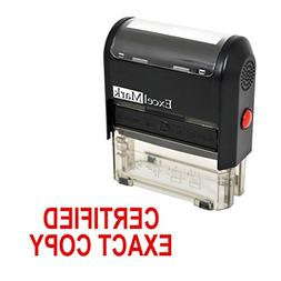 CERTIFIED EXACT COPY Self Inking Rubber Stamp - Red Ink