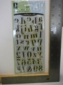 INKADINKADO CHELSEA ALPHABET NUMBERS SET OF 39 CLEAR STAMPS