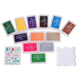 CHuangQi Children's Stamps Ink Pad Sets, Non Toxic Water Sol