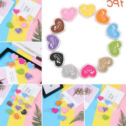 Art Decor Candy Colors Ink Pad Rubber Stamp Paint Love Shape