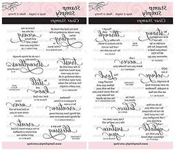 Stamp Simply Clear Stamps Fear Not and Words of Encouragemen