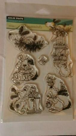 Christmas Fun Clear Unmounted Rubber Stamp Set PENNY BLACK 3