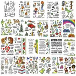 Christmas Halloween Transparent Clear Silicone Stamp/Seals f