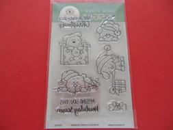 Gerda Steiner Christmas Puppies Clear Rubber Stamp Set