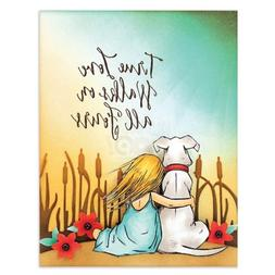 Penny Black clear acrylic rubber stamp set - GENTLE THOUGHTS