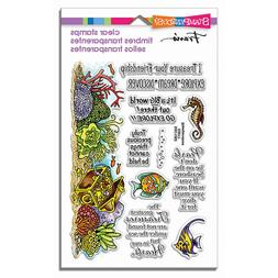 New STAMPENDOUS Clear cling rubber stamps NAUTICAL TREASURES