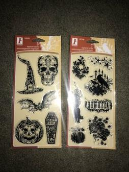 Inkadinkado Clear Halloween Stamps Lot Of 2 BRAND NEW SEALED