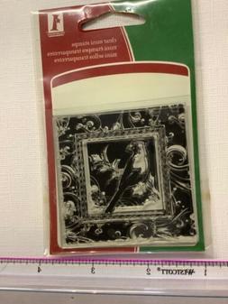 Inkadinkado Clear Mini brubber Christmas Birds Stamp cards c