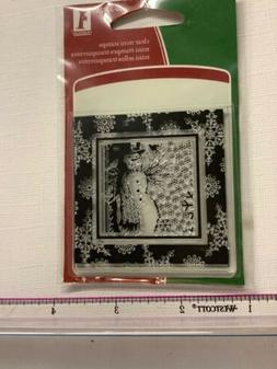 Inkadinkado Clear Mini rubber Christmas Snowman Stamp  cards