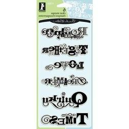 Inkadinkado Clear Rubber Stamps SCRAPBOOK PHRASES