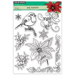 Penny Black 30-374 Clear Set Clear Stamp Set, 30-374,Winter
