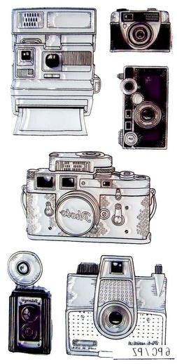 Inkadinkado 60-31325 Cameras Clear Stamp Set_60-31325