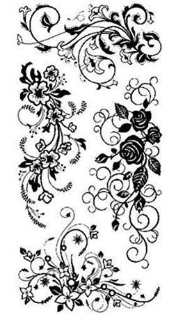 "Inkadinkado - Clear Stamps 4"" x 8"" Sheet - Flower Flourishes"
