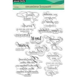 """Penny Black Clear Stamps 5""""X7""""-Treasured Sentiments"""