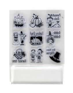 Inkadinkado Clear Stamps, Plymouth Rock Inchie Bundle