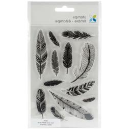 "Momenta Clear Stamps 4""X7.5""-Assorted Feathers"