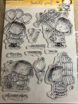 Penny Black Clear Stamps-Betsy Bluebell, PB30053 New In Plas