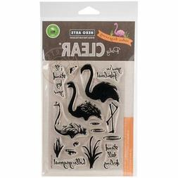 Hero Arts Clear Stamps 4X6-Color Layering Flamingo