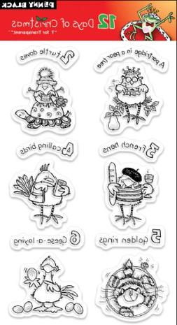 """Penny Black Clear Stamps 5"""" x 7.5"""" Sheet, 12 Days Of Christm"""