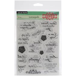 Penny Black Clear Stamps 5X6.5 Sheet-Eloquence