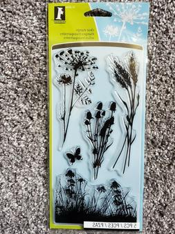 Inkadinkado Clear Stamps 4X8 Sheet-Meadow