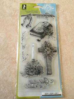 Inkadinkado Clear Stamps 4X8 Sheet-Spiritual Sketches