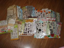 Clear Stamps Sizzix , Inkadinkado, Fiskars - Huge Lot- You P
