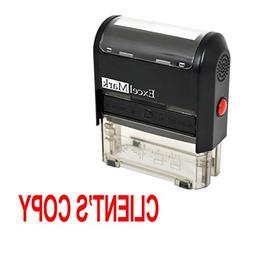 ExcelMark CLIENTS COPY Self Inking Rubber Stamp - Red Ink