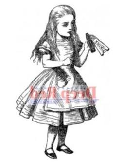 Deep Red Cling Stamp 2.25X3.5-Alice Potion