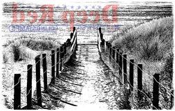 Deep Red Cling Stamp 3X2-Beach Walk