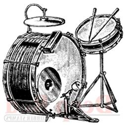 Deep Red Cling Stamp-Drum Set