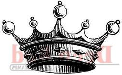 Deep Red Cling Stamp, Crown for Royalty