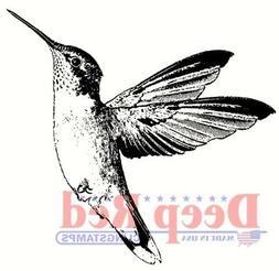 Deep Red Cling Stamp 2X1.75-Hummingbird