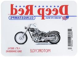 Deep Red Cling Stamp-Motorcycle