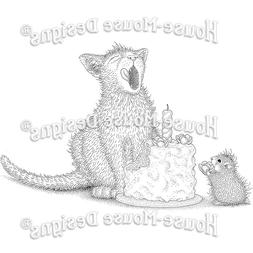 Stampendous cling mounted rubber stamp - HOUSE MOUSE - BIRTH