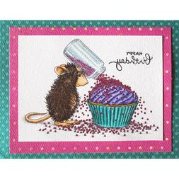 Stampendous cling mounted rubber stamp - House Mouse - CUPCA