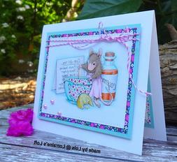 Stampendous cling mounted rubber stamp - HOUSE MOUSE - CURE