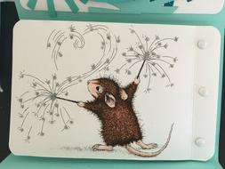Stampendous cling mounted rubber stamp - HOUSE MOUSE - SPARK