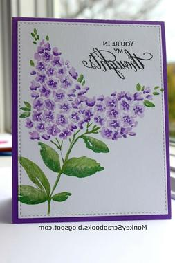 Penny Black cling mounted rubber stamp - LILACS, flower