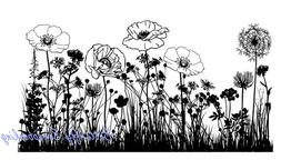 IndigoBlu Cling Mounted Stamp, 7 by 4.75-Inch, Wild Flowers