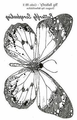 IndigoBlu Cling Mounted Stamp 5X4-Big Butterfly